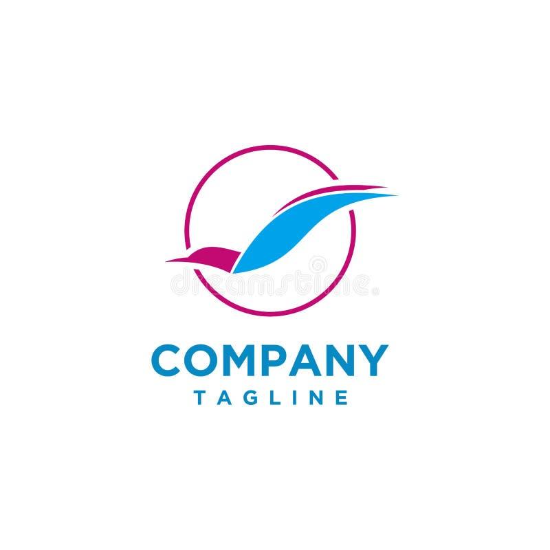 Estilo luxuoso do projeto do logotipo do pássaro ilustração stock