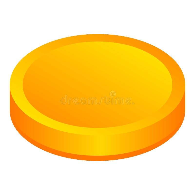 Estilo métrico de la moneda de oro libre illustration