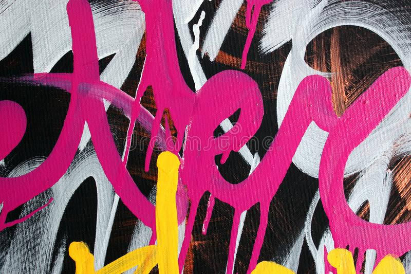 Estilo macro del fondo de un mejor de la pintada marcador del rosa fotografía de archivo libre de regalías