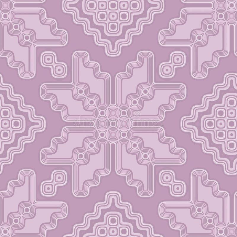 Estilo marroquino da telha sem emenda do teste padrão no rosa pastel macio ilustração royalty free