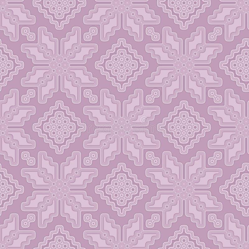 Estilo marroquino da telha sem emenda do teste padrão no rosa pastel macio ilustração do vetor