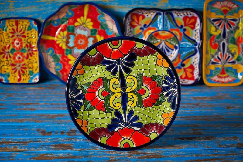 Estilo mexicano de Talavera da cerâmica de México fotografia de stock