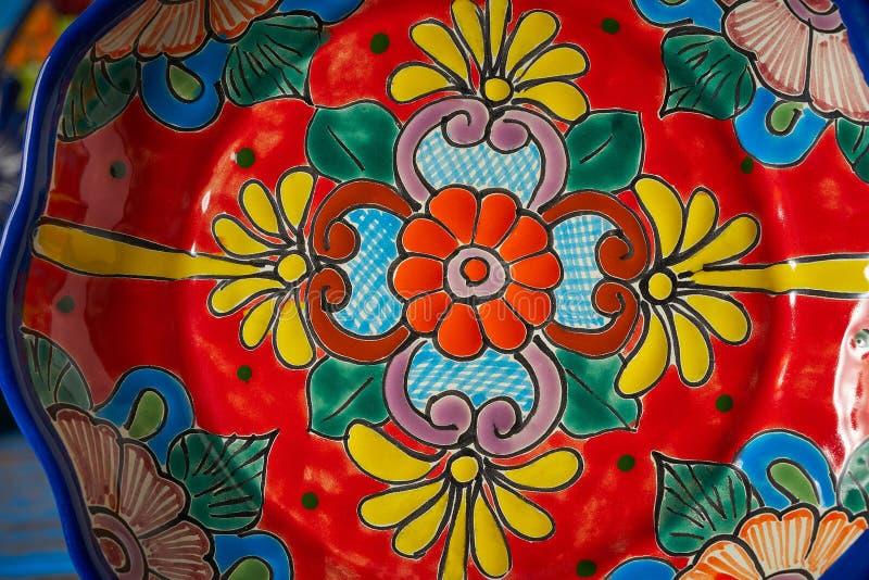 Estilo mexicano de Talavera de la cerámica de México fotos de archivo libres de regalías