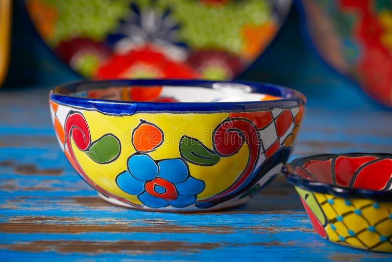 Estilo mexicano de Talavera de la cerámica de México fotos de archivo