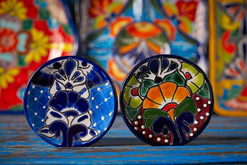 Estilo mexicano de Talavera de la cerámica de México foto de archivo libre de regalías