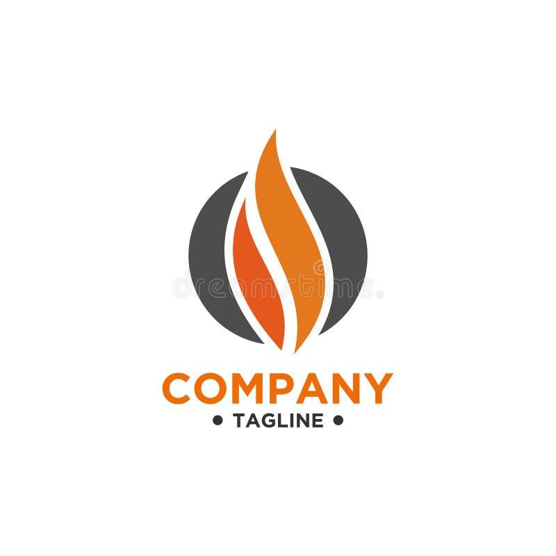 Estilo minimalista simple del diseño del logotipo de la llama ilustración del vector