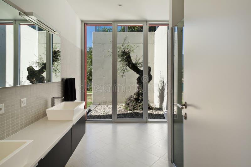 Estilo moderno, banheiro fotos de stock royalty free