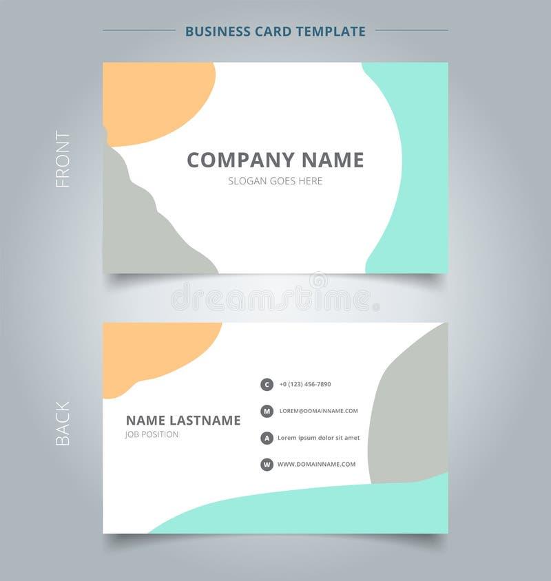 Estilo moderno da disposição abstrata na moda do molde do cartão de nome da empresa ilustração do vetor