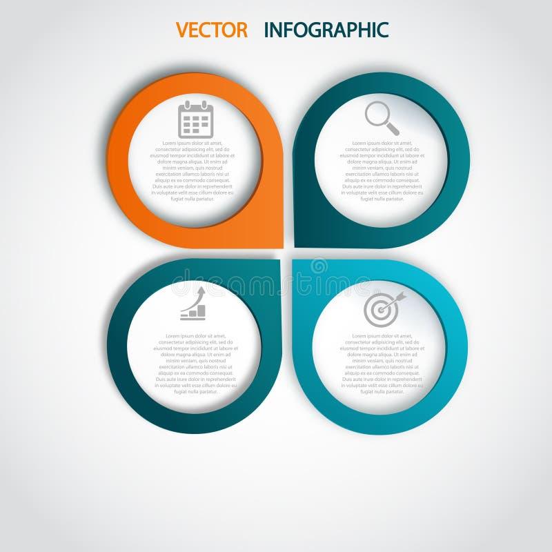 Estilo moderno de la plantilla del discurso de la burbuja del infographics Ilustración del vector puede ser utilizado para la dis stock de ilustración