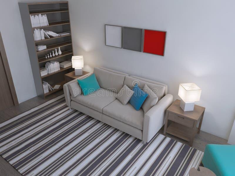 Estilo moderno de la sala de estar stock de ilustración