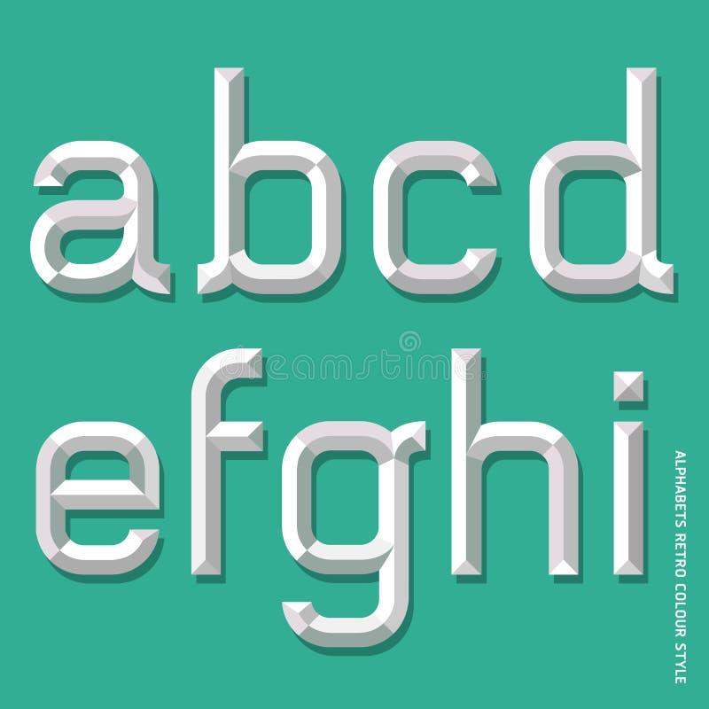 Estilo moderno del alfabeto. ilustración del vector