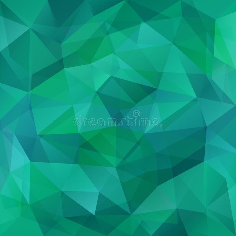 Estilo moderno del backgroundin abstracto del polígono Las transiciones verdes del color de la turquesa crean una malla Fondos tr stock de ilustración