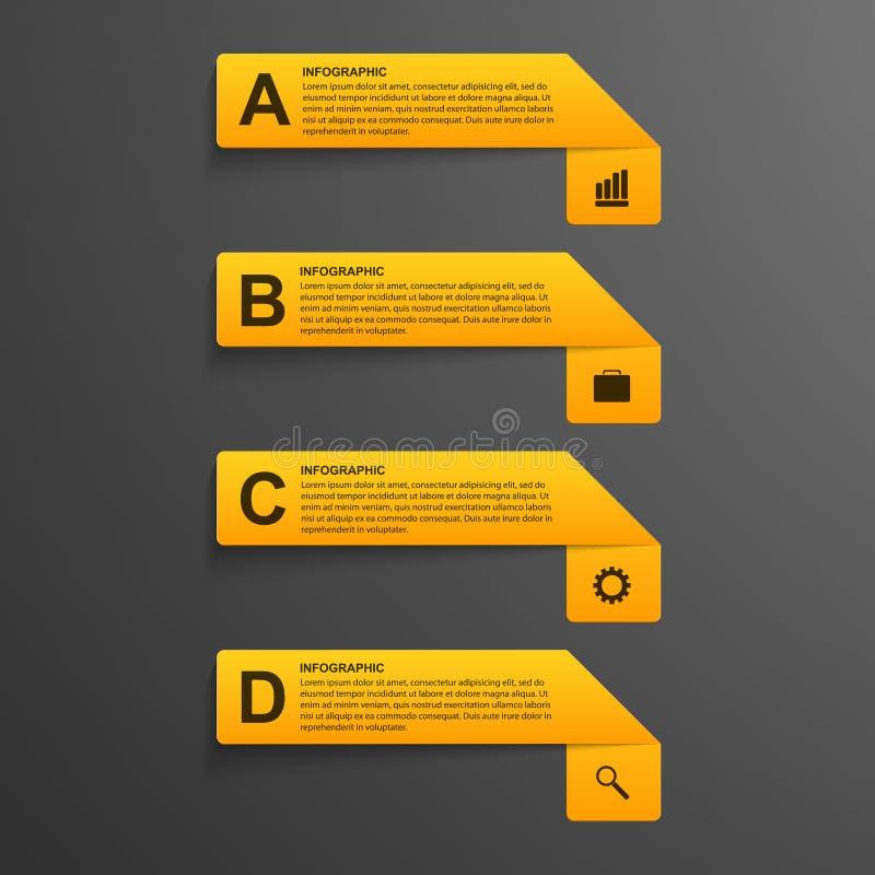 estilo moderno del infographics de papel realista de las opciones 3D libre illustration