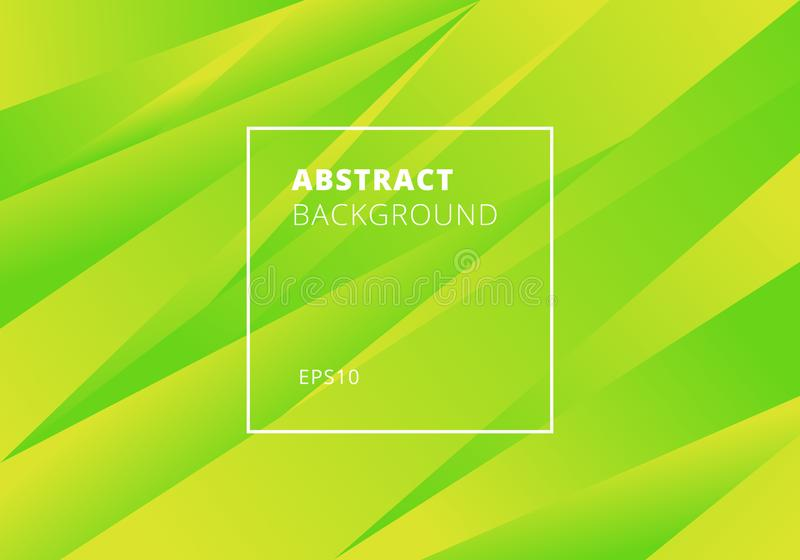 Estilo moderno del verde abstracto y del fondo amarillo de las pendientes del color Movimiento cubierto geométrico stock de ilustración