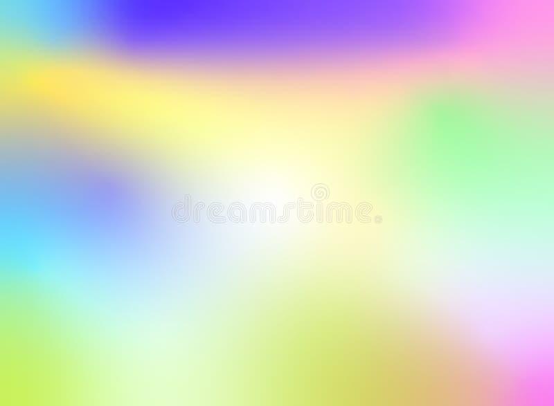 Estilo olográfico borroso colorido del diseño del fondo del extracto libre illustration