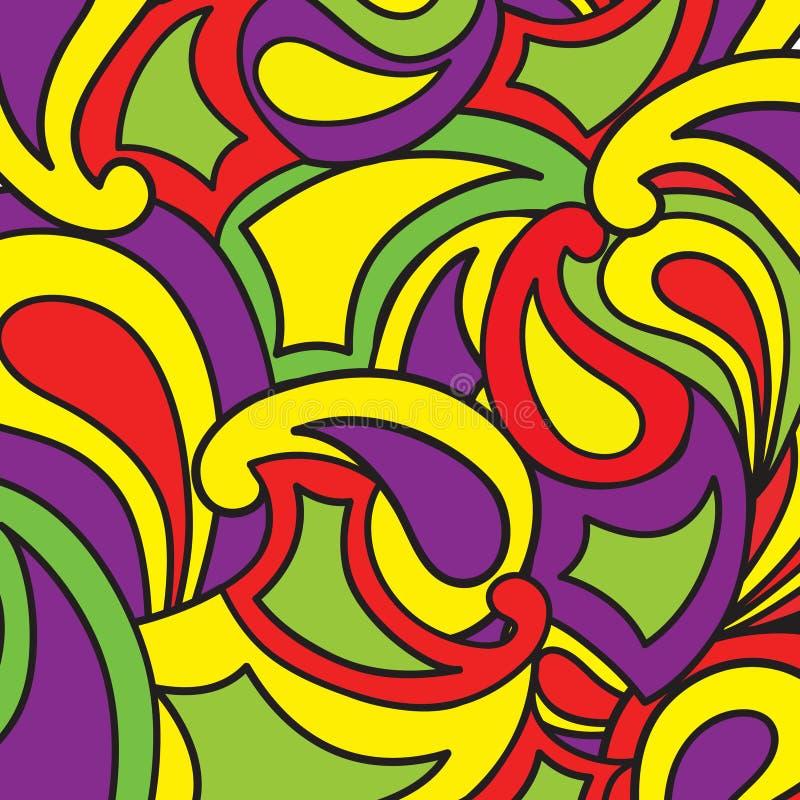 Estilo ondulado abstrato do fundo em 1960 s Alinhador longitudinal funky geométrico ilustração royalty free