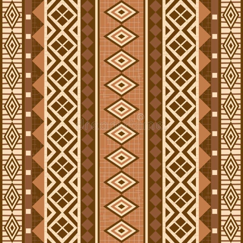 Estilo ornamental geométrico del africano del modelo ilustración del vector