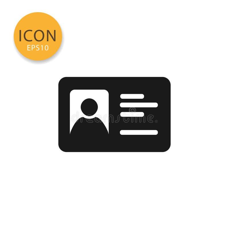 Estilo plano aislado icono de la tarjeta de la identificación libre illustration