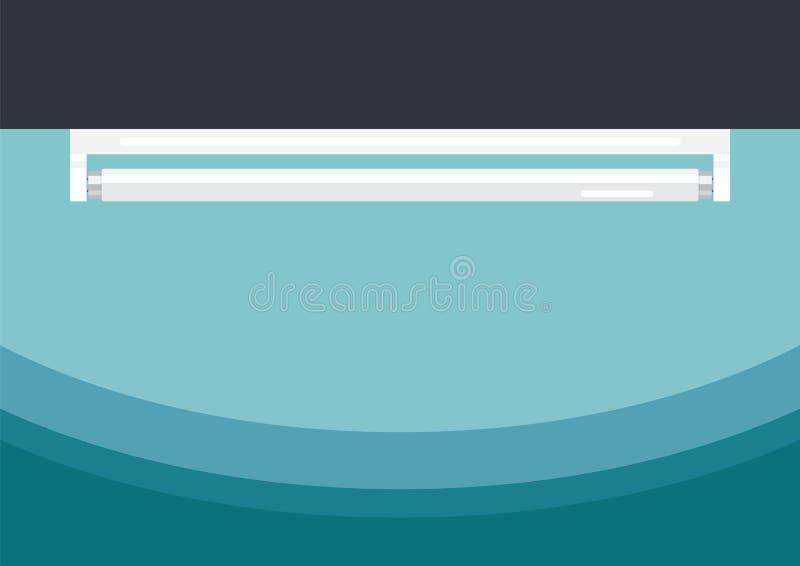 Estilo plano de la lámpara del tubo fluorescente stock de ilustración