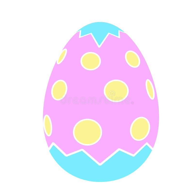 Estilo plano de los iconos del huevo de Pascua del color stock de ilustración