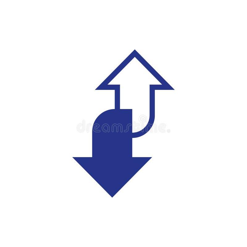 Estilo plano del diseño del ejemplo del vector de la acción del icono de la flecha stock de ilustración