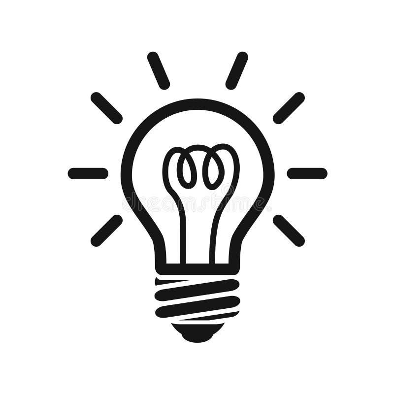 Estilo plano del icono de la bombilla Símbolo de la muestra del icono de la bombilla para el diseño del sitio web y del app libre illustration