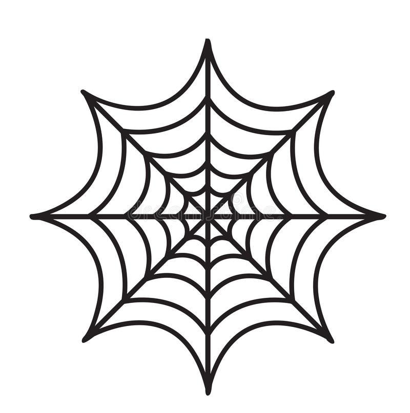 Estilo plano del icono de la telaraña Aislado en el fondo blanco Ilustración del vector stock de ilustración