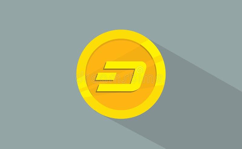 Estilo plano del logotipo del icono de la tecnología del cryptocurrency de la rociada libre illustration