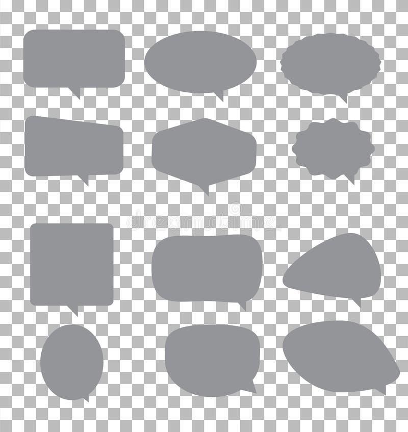 Estilo plano  Muestra de la burbuja del discurso  ilustración del vector