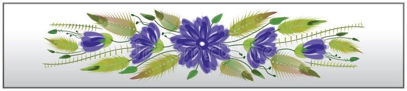 Estilo popular del petrykivka de la señal ornamental floral ilustración del vector