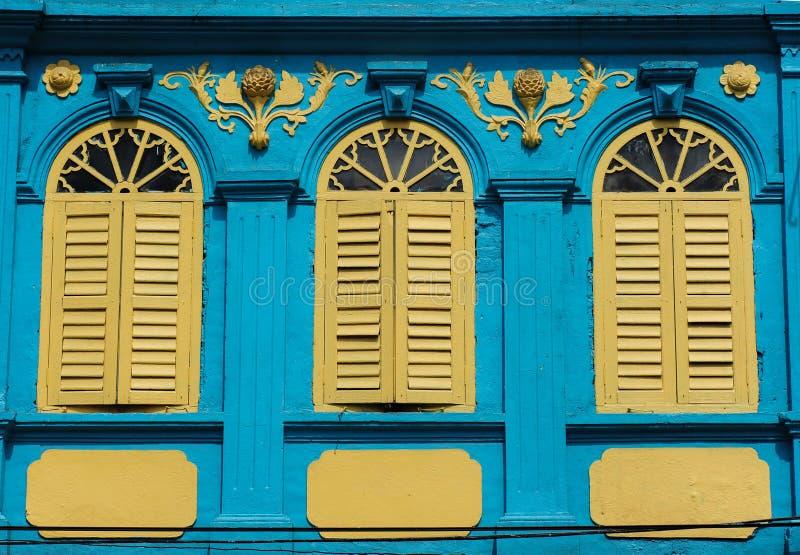 Estilo português da arquitetura de tipo de tela de algodão fotografia de stock