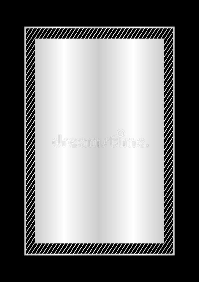 Estilo puesto plano color plata y rectángulo del marco de moda para el espacio de la copia, plata vacía del marco para el dise ilustración del vector