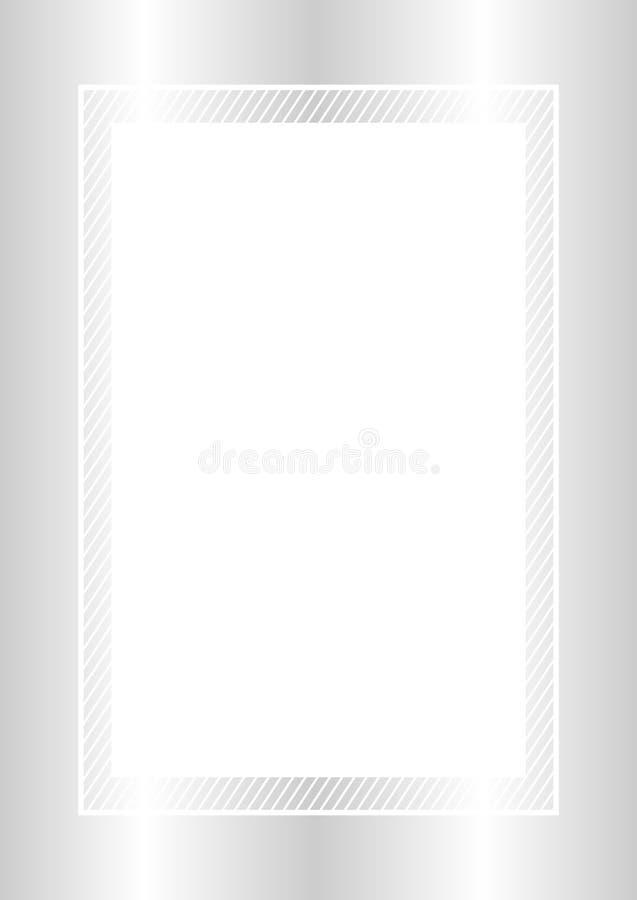 Estilo puesto plano color plata y rect?ngulo del marco de moda para el espacio de la copia, plata vac?a del marco para el dise?o  ilustración del vector