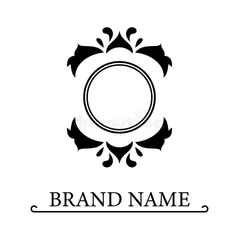 Estilo real agraciado Logotipo hermoso caligr?fico Emblema exhausto del vintage para el dise?o del libro, marca, tarjeta de visit libre illustration