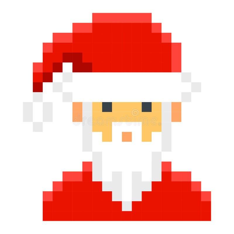 Estilo retro del juego de la historieta del arte del pixel de Papá Noel libre illustration