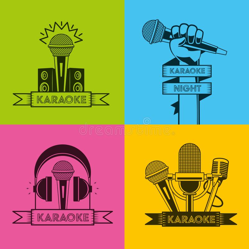 Estilo retro del Karaoke libre illustration