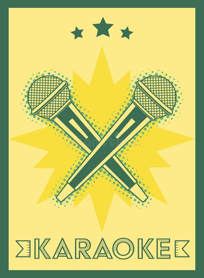Estilo retro del Karaoke stock de ilustración