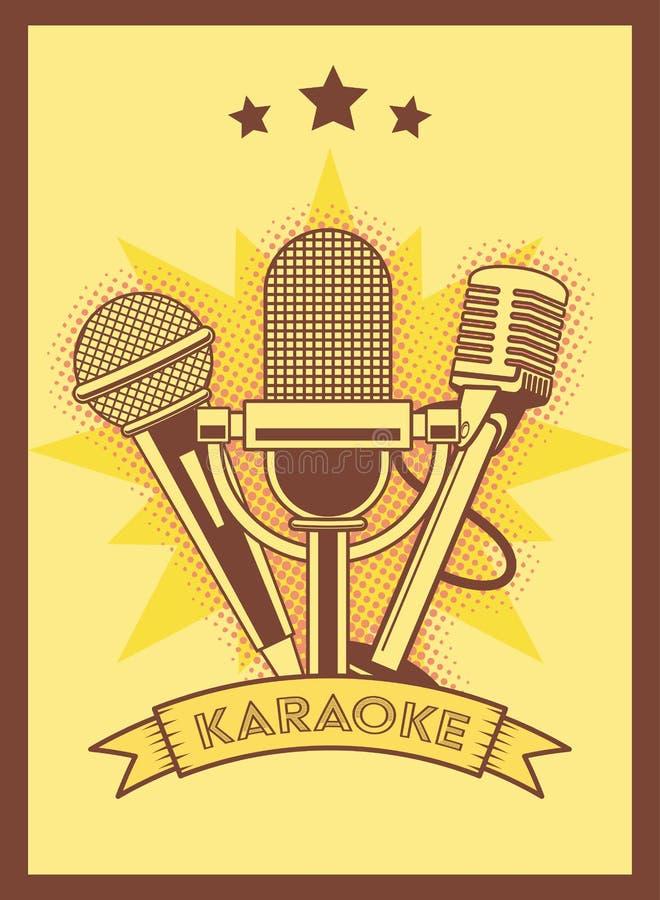 Estilo retro del Karaoke ilustración del vector