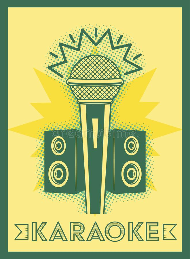 Estilo retro del Karaoke libre illustration
