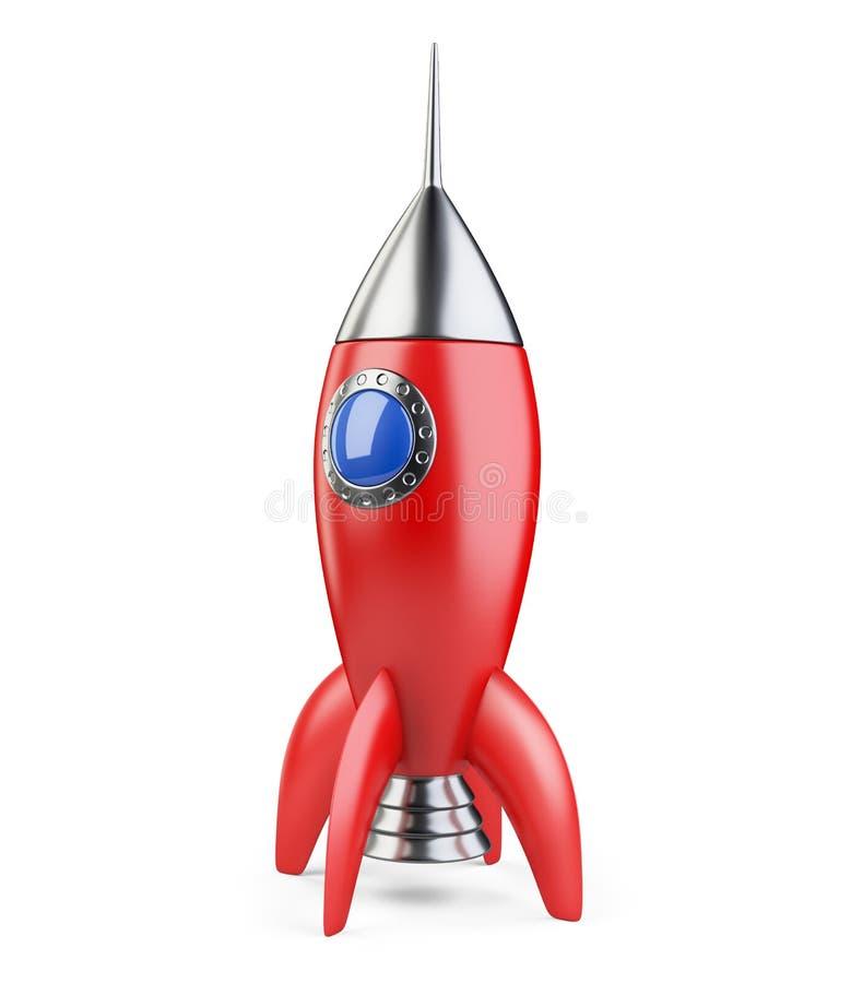 Estilo retro vermelho de Rocket ilustração stock