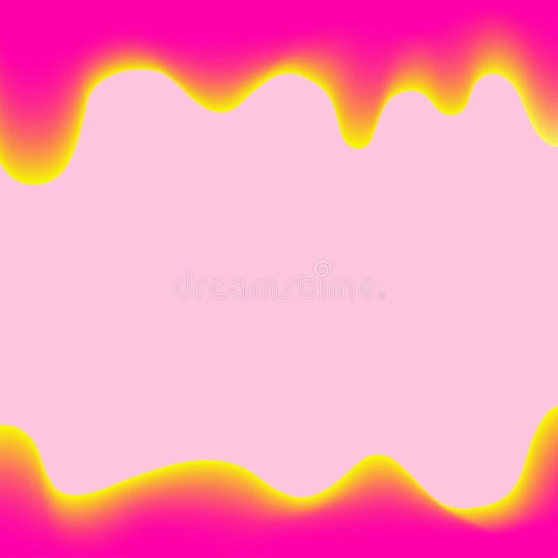 Estilo rosado de goteo de la historieta de la pintura de la bandera para el fondo colorido, frontera de los goteos de la acuarela ilustración del vector