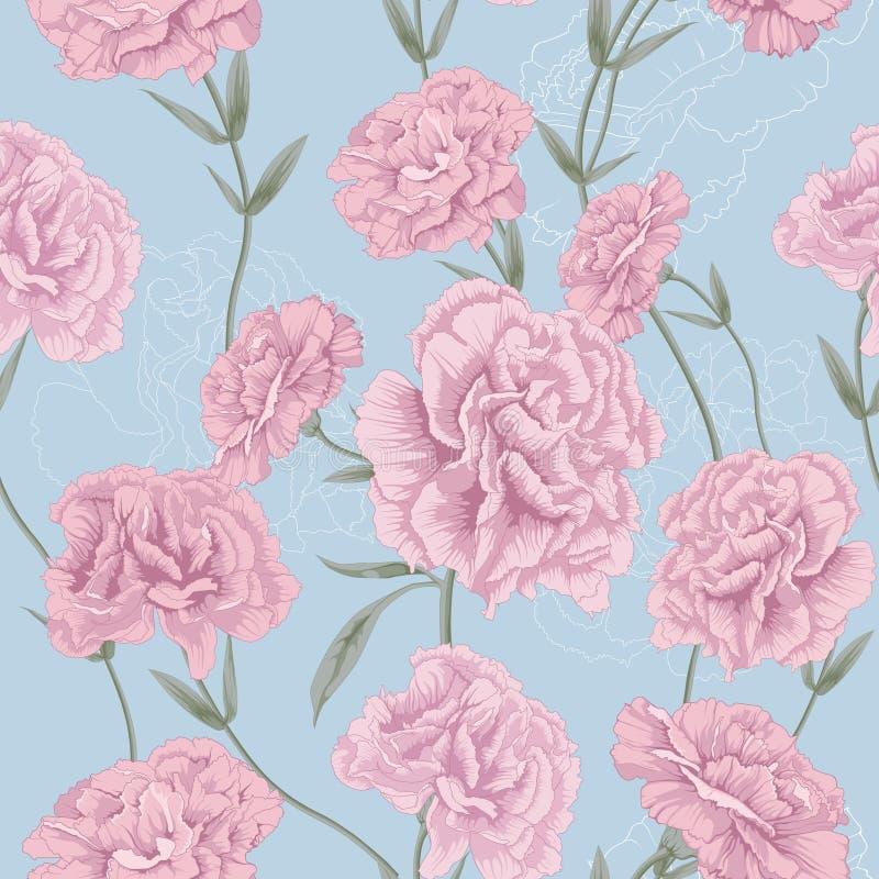 Estilo rosado de la flor ilustración del vector