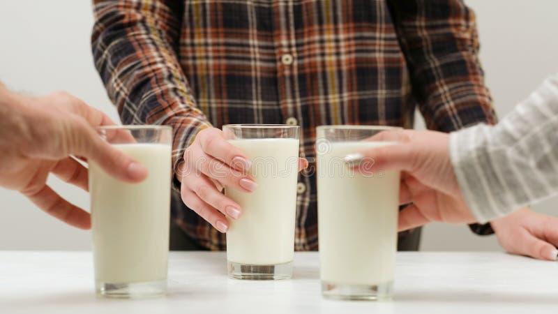 Estilo sano del batido de leche de la bebida del cóctel fresco de la leche fotografía de archivo libre de regalías