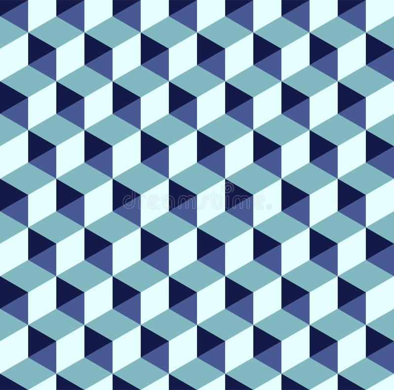 Estilo sem emenda isométrico geométrico da arte moderna do fundo do teste padrão do sumário ilustração do vetor