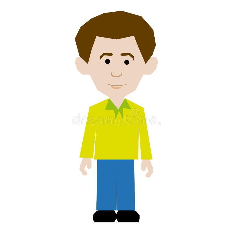 estilo sport vestido hombre colorido de la imagen libre illustration