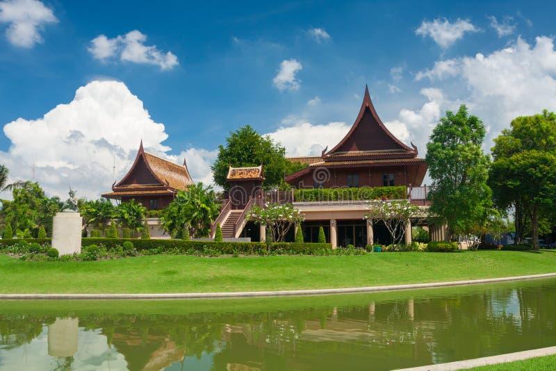 Estilo tailandés de la casa de Tailandia imagen de archivo