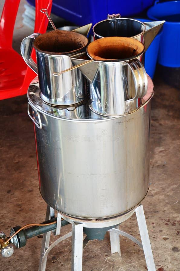 Estilo tailandés de la máquina del café fotos de archivo