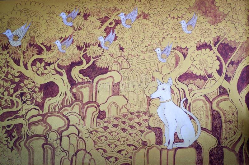 Estilo tailandés del lanna de la pintura imagenes de archivo