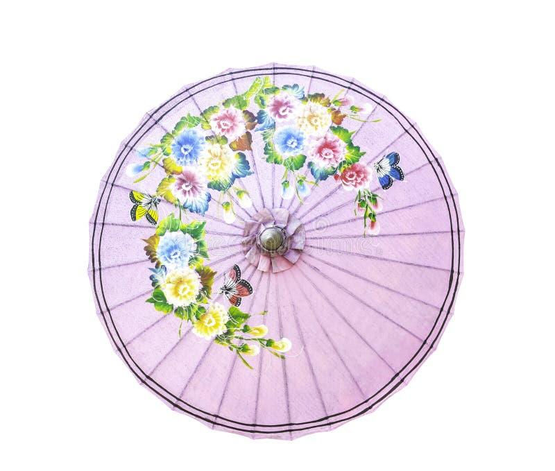 Estilo tailandés del paraguas de la tradición aislado foto de archivo libre de regalías