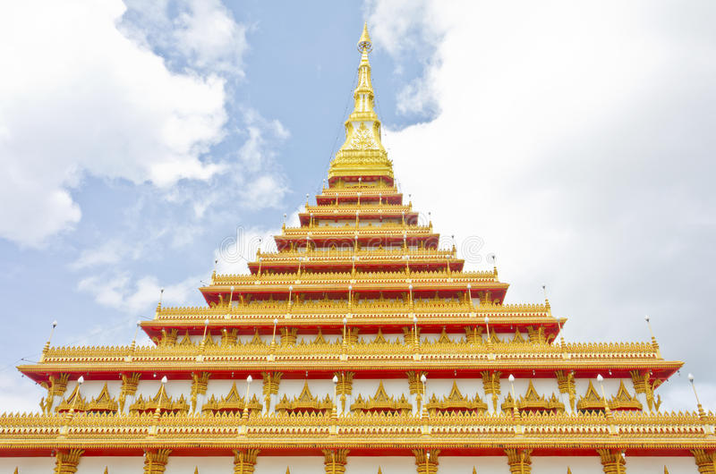 Estilo tailandés del templo en Khon Kaen Tailandia fotos de archivo